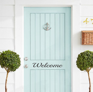 Welcome Custom word Door sticker Decal/Label Front door/Sign/Fancy/Modern