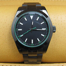 Parnis Men's Automatic Mechnical Watch 40mm PVD Coated Bracelet Sapphire Crystal