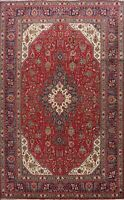 Vintage Geometric Tebriz Traditional Area Rug Wool Hand-Knotted Oriental 7x10 ft