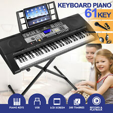 More details for ♬61 full size weighted keys electronic keyboard digital piano lcd screen mustar