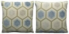 Ex-Chainstore Pack of 2 Geometric Hexagon Woven Design Cushion Covers