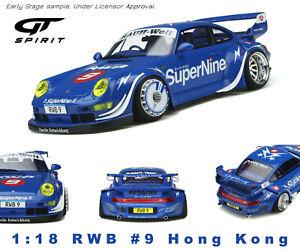 Porsche RWB Hong Kong #9 Blue 2019  GT Spirit 1/18 GT316  Pré-Order Juin 2021