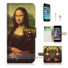 ( For iPhone 7 Plus ) Wallet Case Cover P0140 Mona Lisa