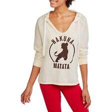Disney Lion King Juniors' Split Neck Burnout Hoodie Sweatshirt Size Small