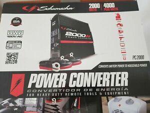 Schumacher PC-2000 2000 Watt DC to AC Power Inverter converter 3x 120V AC 1 USB