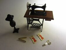 Vtg Dollhouse Miniature Working Parts Sewing Machine Metal Mannequin Accessories