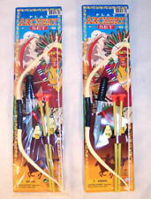 2 NEW BOW AND ARROW SET SM arrows knife indian costume play toy dressup boys