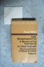 Oscar Wilde Lady Windermere's Fan Ideal Husband Salome Importance Earnest OzSell