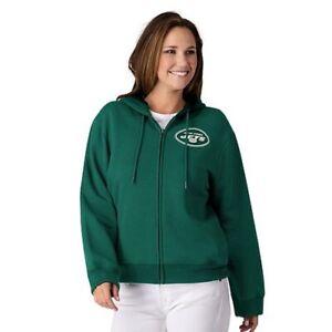 NFL New York Jets Officially Licensed Women's Full Zip Hoodie G-III Green