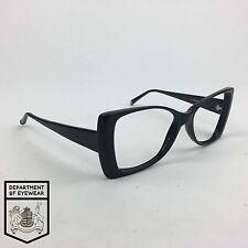 RED OR DEAD eyeglasses BLACK POINTED RECTANGLE frame MOD: MACRAME BLK