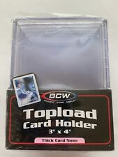 (10-Pack) BCW Topload Card Holder 197pt 5mm Super Thick Patches Jerseys