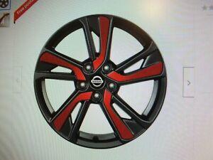 "New Genuine Nissan Juke set 5 18"" wheel inserts Detroit Red KE4SP-1K30R N29"