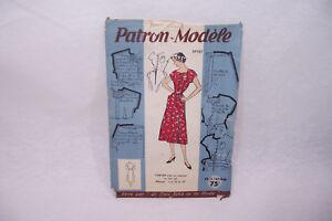 Ancien PATRON Modèle 1950 TABLIER été n°37137 Taille 44 Le PETIT ECHO de la MODE