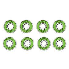 8 Pcs ABEC 9 Bearings High Roller Skate Scooter Skateboard Wheel Green