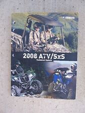 2008 Yamaha Motorcycle Atv SxS Technical Update Manual New Model Changes Data L