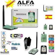 ALFA N,  2w, AWUS036NH,ANTENA WIFI,V5,2000MW,ENVIOS URGENTE DESDE ESPAÑA