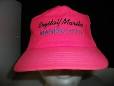 Baseball Cap CRYSTAL MARIBO * Old School Trucker Hat Unique RETRO Rare Vintage