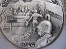 1+OZ LONGINES STERLING SILVER COIN  PRELUDE TO VICTORY D-DAY JUNE 6 1944 + GOLD