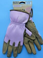 MECHANIX WEAR WOMENS LADIES PADDED PALM GARDENING GLOVES LARGE PINK NEW + TAGS