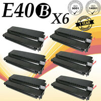6PK E40 BLACK Toner Cartridge Compatible For Canon E40 PC140 PC150 PC160 PC170