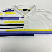 Walter Hagen Polo Shirt Men's 2XL XXL Short Sleeve White Polyester Blend Casual