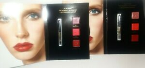 4 Tom Ford The Perfect Accessory Lip Cards 3 Shades each card x 4 cards