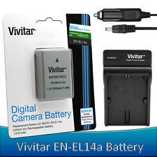 EN-EL14a Battery +Charger for Nikon D5600 D5500 D5300 D5200 D3400 D3300 D3200