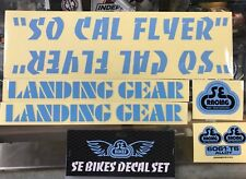 SE RACING - SO CAL FLYER BMX DECAL STICKER SET - SO CAL FLYER STICKERS - BL