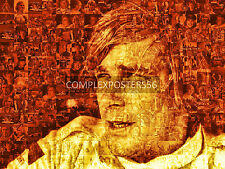 UNIQUE LARGE PHOTO MOSAIC PHOTO POSTER IN 'SEPIA GOLD' OF JAMES HUNT