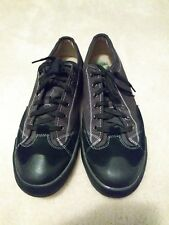 Fossil Mens 13 Black Canvas Suede Lace-up Sneaker tennis Shoes