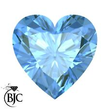 BJC® Loose Natural Heart Cut Blue Topaz 100% Natural 6mm - 7mm