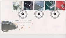 UNADDRESSED GB ROYAL MAIL FDC FIRST DAY 1996 SPORTS CARS STAMP SET BUREAU PMK