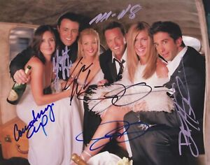 6 Signed CAST of FRIENDS Autographed COA ANISTON KUDROW PERRY LEBLANC SCHWIMER
