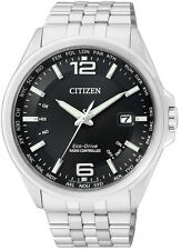Citizen Eco-Drive Radio Control Steel Watch. Sapphire Glass  43mm CB0010-88E