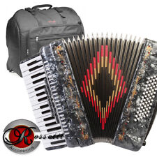 Rossetti 3460 60 Bass 34 Keys 5 Switch Piano Accordion - GREY + Padded Gig Bag