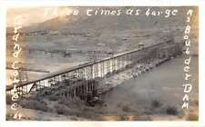 Grand Coulee Dam Colorado Scenic View Real Photo Antique Postcard J54609