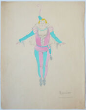 Dessin original de Charles GESMAR (1900-1928) costume théatre Opéra Roméo
