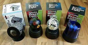 Disco Ball, LED, & Blue Flashing Police Novelty Light Battery Powered Decor NEW!