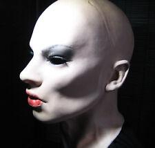 Latexmaske B-EMILIA  +WIMPERN Realist. weibliche Frauenmaske Crossdresser Trans