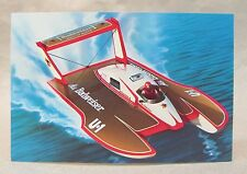 1985 BUDWEISER promo color card picture print hydroplane boat racing
