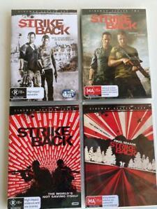 Strike Back Seasons 1 to 4 DVD'S, Region 4
