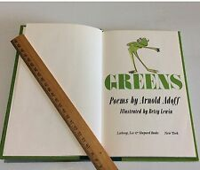 Vintage Poetry Greens Poems by Arnold Adoff 1st Edition Children's Book HC 1988