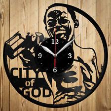Vinyl Clock City of God Handmade Vinyl Clock Art Home Decor Original Gift 4336