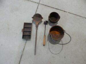Lyman Lead Casting Lead Melting Pots and Ladles Plus Ingot Mold