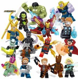 16pcs Marvel Super Heroes Lego Avengers Infinity War Mini Figures Man Hulk Set