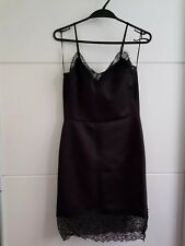 New Zara Black Fitted Lingerie Style Spaghetti Straps, Lace, S