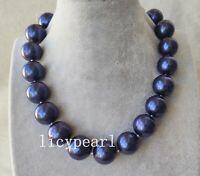 Shell Pearl Necklace,Enorm 20mm königsblau Muschelperle Halskette