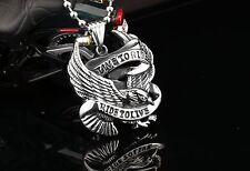 Kette und Anhänger aus Edelstahl Live to Ride Eagle Harley MC No Reserve (K004)