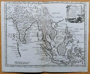 Laporte Original Kupferstich Karte Thailand Indonesien Philippinen - 1777