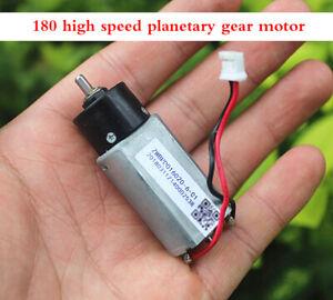 1pcs DC 3V Plastic Planetary Gear Motor Silent 180 Motor High Speed 1300 rpm